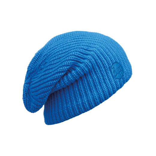Caciula Buff Knitted & Polar Drip Blue