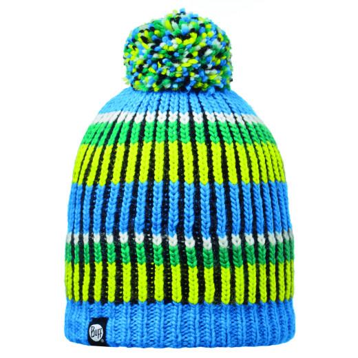 Caciula Buff Knitted & Polar Troy Blue