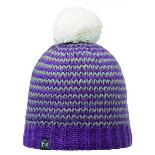 Caciula Buff Knitted & Polar Dorn Plum