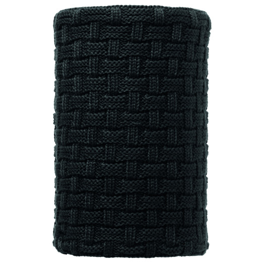 Neckwarmer Buff Knitted & Polar Airon Black