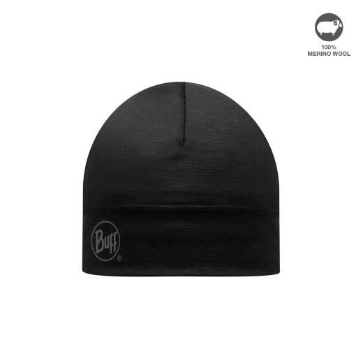 Caciula Buff Merino Wool Solid Black