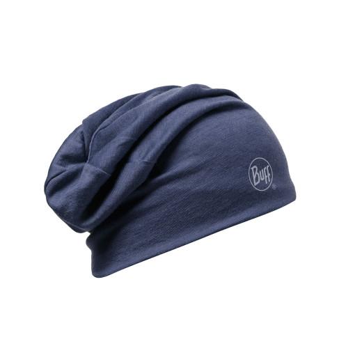 Caciula Buff Merino Wool 2 Layers Solid Denim