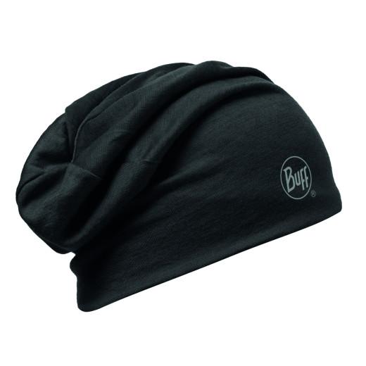 Caciula Buff Merino Wool 2 Layers Solid Black