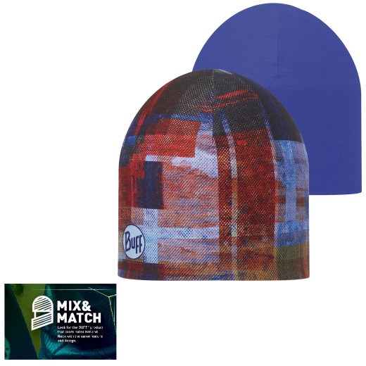 CaciulaBuff Reversible Hat Kan Multi/Blue Ink