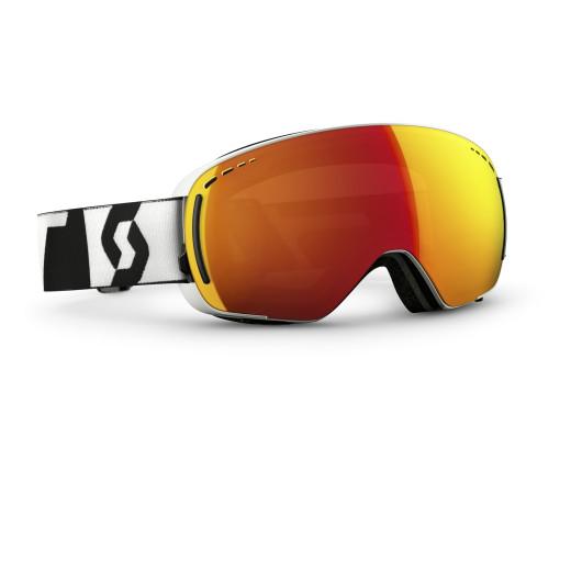 Ochelari Ski Scott LCG Compact Black/White / Red Chrome