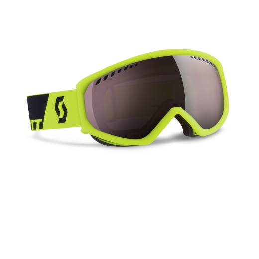 Ochelari Ski Scott Faze Neon Yellow / Silver Chrome