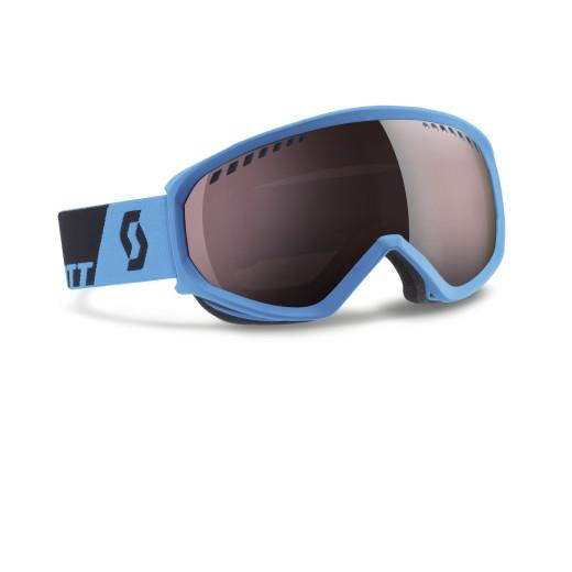 Ochelari Ski Scott Faze Neon Blue / Silver Chrome