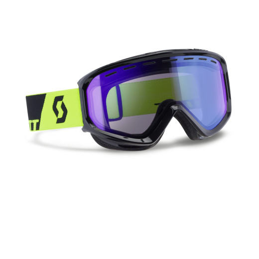 Ochelari Ski Scott Level Black/Neon Yellow / Illuminator Blue Chrome