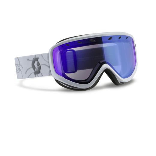 Ochelari Ski Scott Capri White/Silver / Illuminator Blue Chrome