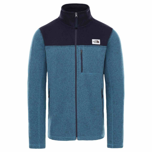 Polar Drumetie Barbati The North Face M Gordon Lyons Full Zip Mallard Blue Dark Heather/Aviator Navy Dark Heather