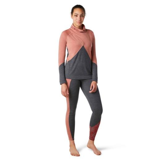 Bluza Femei Smartwool Merino 250 Crossover Neck Top Canyon Rose Heather