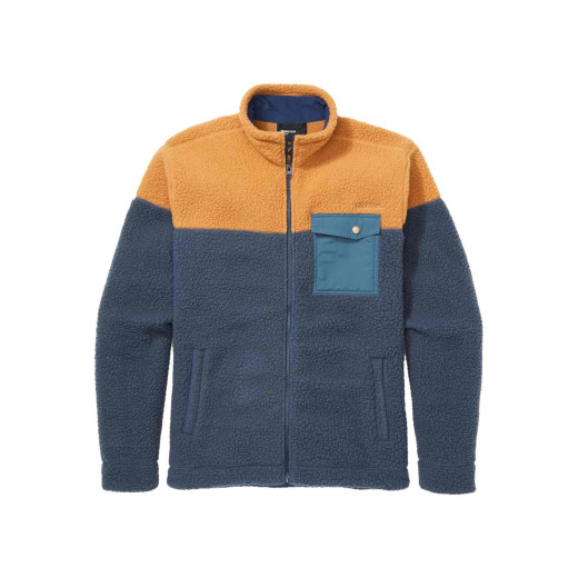 Polar Barbati Marmot Aros Fleece Jacket Dark Indigo/Scotch/Stargazer
