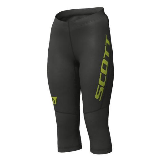 Pantaloni Femei Alergare Scott RC Run 3/4 Negru / Galben