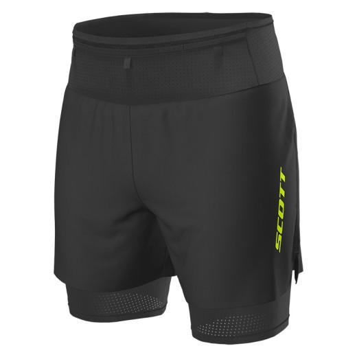 Pantaloni scurti Barbati Alergare Scott RC Run Hybrid Negru / Galben