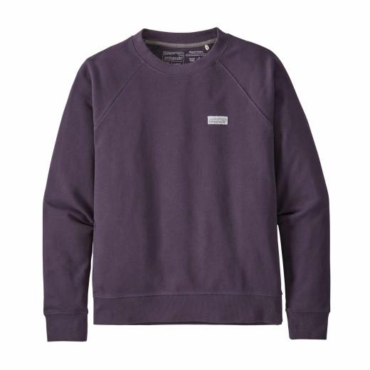 Bluza Femei Patagonia Pastel P-6 Label Organic Crew Sweatshirt Piton Purple