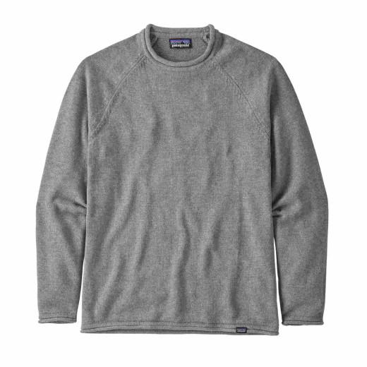 Bluza Barbati Patagonia Ponderosa Pine Roll Neck Sweater Noble Grey