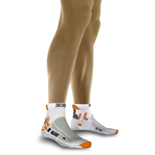 Sosete Ciclism X-Socks Biking Silver