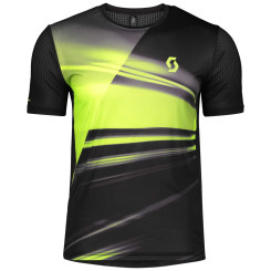 Tricou Alergare Barbati Scott RC Run Black / Yellow