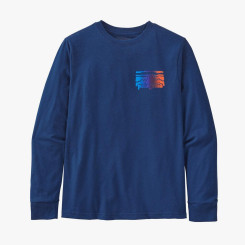 Bluza Copii Patagonia Boys' L/S Graphic Organic T-Shirt Fitz Roy Rambler: Superior Blue Bluza Copii Patagonia Boys' L/S Graphic Organic T-Shirt Fitz Roy Rambler: Superior Blue