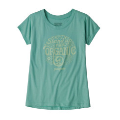 Tricou Drumetie Copii Patagonia Girls' Graphic Organic T-Shirt Light Beryl Green Tricou Drumetie Copii Patagonia Girls' Graphic Organic T-Shirt Light Beryl Green
