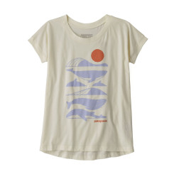 Tricou Drumetie Copii Patagonia Girls' Graphic Organic T-Shirt White Wash Tricou Drumetie Copii Patagonia Girls' Graphic Organic T-Shirt White Wash