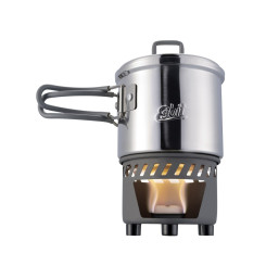 Arzator Spirt Solid Cu Vas Inox Esbit 585 ML Arzator Spirt Solid Cu Vas Inox Esbit 585 ML