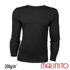 Bluza Barbati Merinito 200G 100% Lana Merinos Negru Bluza Barbati Merinito 200G 100% Lana Merinos Negru