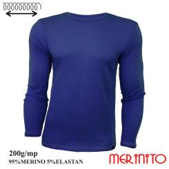 Bluza Barbati Merinito 200G 95% Lana Merinos 5% Elastan Albastru Bluza Barbati Merinito 200G 95% Lana Merinos 5% Elastan Albastru