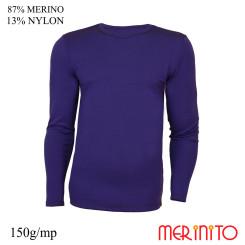 Bluza Barbati Merinito 150G 87% Lana Merinos 13% Nylon Indigo Bluza Barbati Merinito 150G 87% Lana Merinos 13% Nylon Indigo