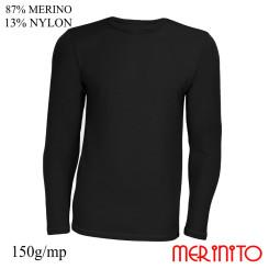 Bluza Barbati Merinito 150G 87% Lana Merinos 13% Nylon Negru Bluza Barbati Merinito 150G 87% Lana Merinos 13% Nylon Negru