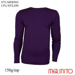 Bluza Barbati Merinito 150G 87% Lana Merinos 13% Nylon Violet Bluza Barbati Merinito 150G 87% Lana Merinos 13% Nylon Violet