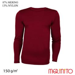 Bluza Barbati Merinito 150G 87% Lana Merinos 13% Nylon Grena Bluza Barbati Merinito 150G 87% Lana Merinos 13% Nylon Grena