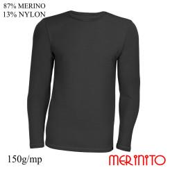 Bluza Barbati Merinito 150G 87% Lana Merinos 13% Nylon Antracit Bluza Barbati Merinito 150G 87% Lana Merinos 13% Nylon Antracit