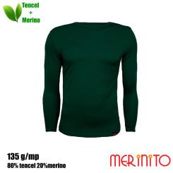 Bluza Barbati Merinito 135G 80% Tencel 20% Lana Merinos Verde Bluza Barbati Merinito 135G 80% Tencel 20% Lana Merinos Verde