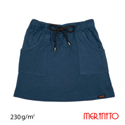Fusta Copii Merinito 230G 100% Lana Merinos Albastru Fusta Copii Merinito 230G 100% Lana Merinos Albastru