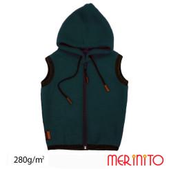 Vesta Copii Merinito Soft Fleece 100% Lana Merinos Turcoaz Vesta Copii Merinito Soft Fleece 100% Lana Merinos Turcoaz