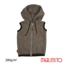 Vesta Copii Merinito Soft Fleece 100% Lana Merinos Gri Vesta Copii Merinito Soft Fleece 100% Lana Merinos Gri