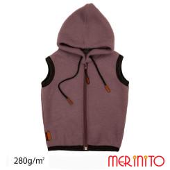 Vesta Copii Merinito Soft Fleece 100% Lana Merinos Mov Vesta Copii Merinito Soft Fleece 100% Lana Merinos Mov