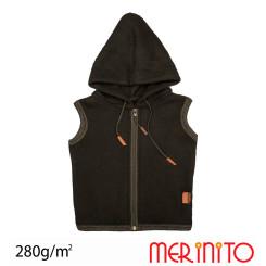 Vesta Copii Merinito Soft Fleece 100% Lana Merinos Negru Vesta Copii Merinito Soft Fleece 100% Lana Merinos Negru