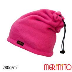 Caciula / Tub Unisex Merinito Soft Fleece 100% Lana Merinos Roz Caciula / Tub Unisex Merinito Soft Fleece 100% Lana Merinos Roz