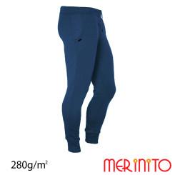 Pantaloni Barbati Merinito Jogger 100% Lana Merinos Albastru