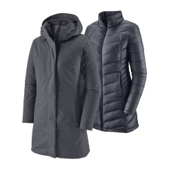 Haina Puf Femei Patagonia Tres 3-in-1 Parka Smolder Blue  Haina Puf Femei Patagonia Tres 3-in-1 Parka Smolder Blue