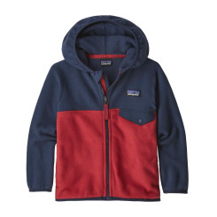 Hanorac Copii Patagonia Baby Micro D Snap-T Jkt Fire w/New Navy